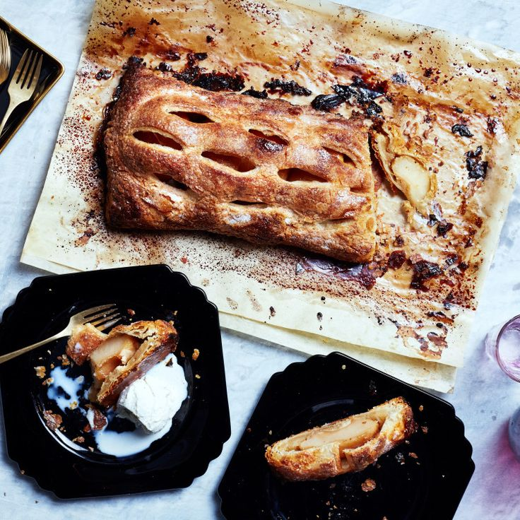 This apple turnover recipe calls for almond paste, which some brands sell in a tube; other brands will be in a can in the baking aisle.