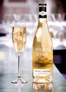 Editor: One of our standby non-alcoholic drinks for parties is White Jasmine Sparkling Tea from Golden Star. It's so fizzy and fresh, you'd think you were drinking champagne.