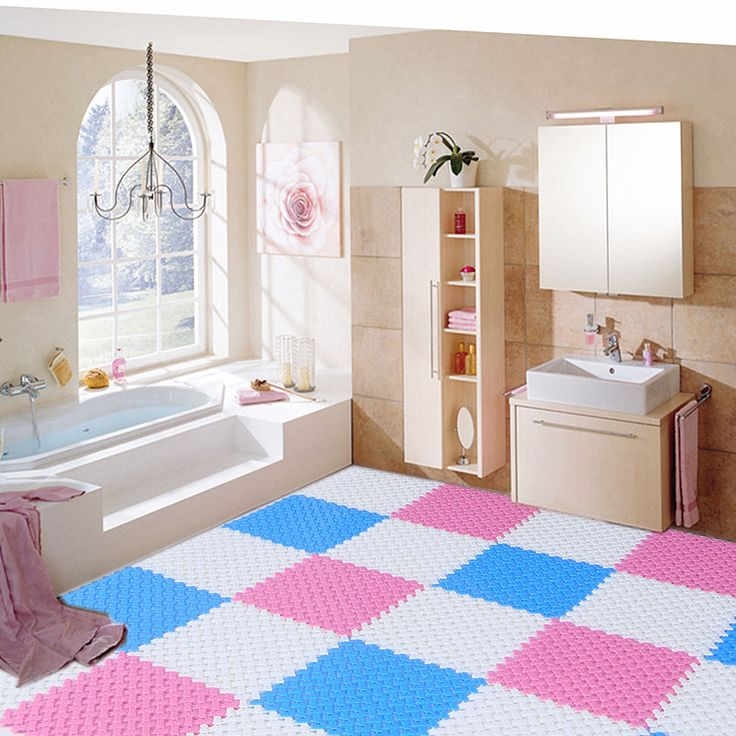 Colorful Cool Large Bathroom Rug