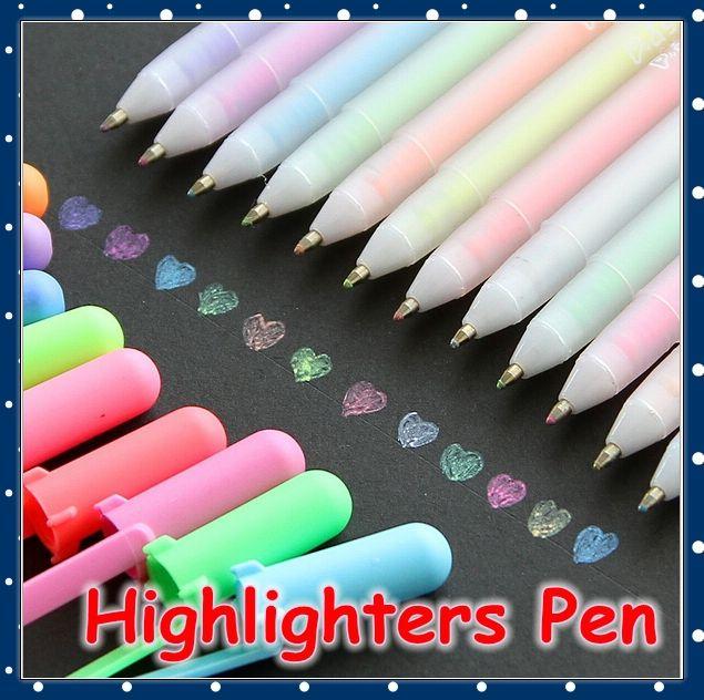 [ FORREST SHOP ] Kawaii papelería colorido líquido marcador de tiza / Scrapbooking novedad rotuladores Pen ( 12 unids/lote ) UP-7983(China (Mainland))