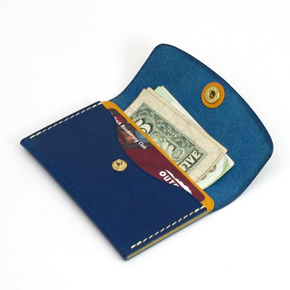 Handmade leather card case Paper money case by VincentHands