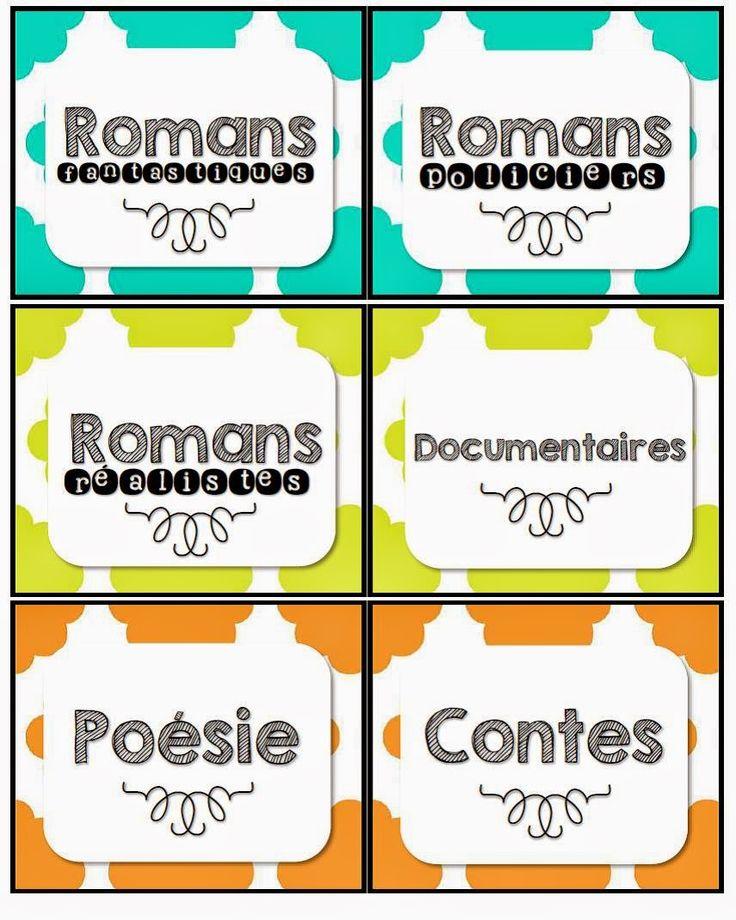 Étiquettes pour la bibliothèque http://laclassedekarine.blogspot.ca/