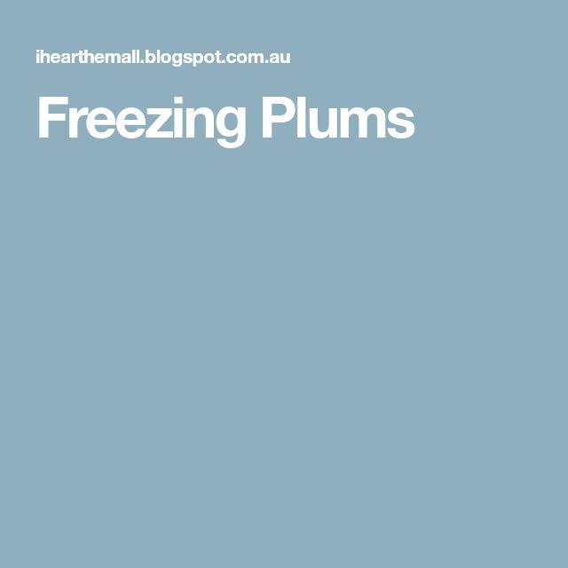 Freezing Plums