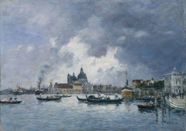 Venise - Le quai des esclavons - Tableau d'Eugène Boudin (1824-1898) - Peintre français considéré comme l'un des précurseurs de l'impressionnisme.