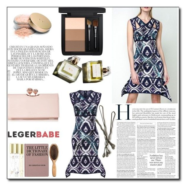 """Dress shopping online-Legerbabe Sean Sequined Ikat Jacquard Wave Dress"" by qingbabe ❤ liked on Polyvore featuring Ted Baker, MAC Cosmetics, BOBBY, Marc, Whiteley, Jane Iredale and Garance Doré"