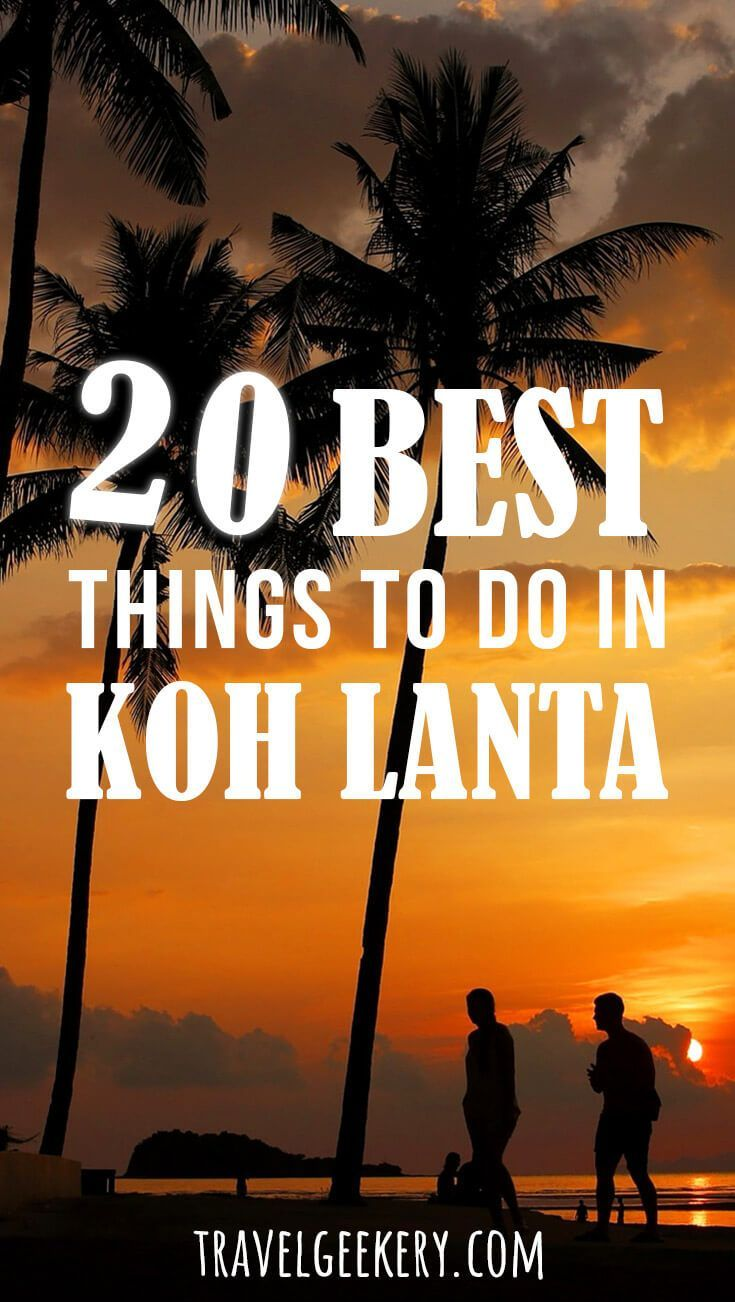 Ko Lanta in Thailand is a beautiful laid back island with plenty of things to do, other than lying on the beach and eating delicious street food. Learn about the best things to do in Koh Lanta and get excited about visiting this charming corner of Thailand yourself! #thailand #island #beach #streetfood #kohlanta