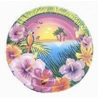 Plate 17.8cm Luau Party Pkt8 $6.95  M19154