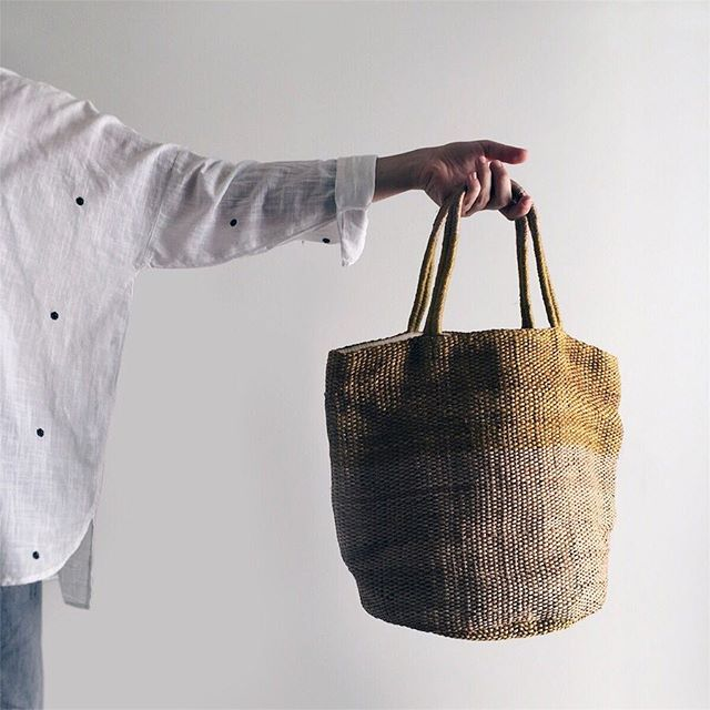 Yellow handwoven bag