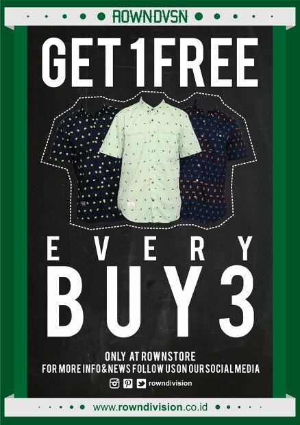 buy3get1free shirt promo
