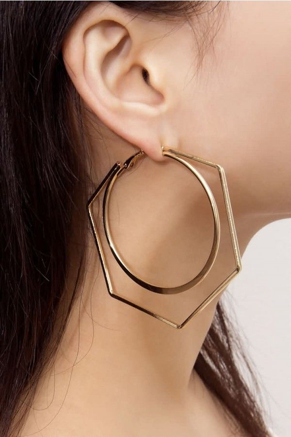 Femme Rétro or cercle perle croix oreille HOOP Clip Sur Boucles D/'oreilles Bijoux Fashion