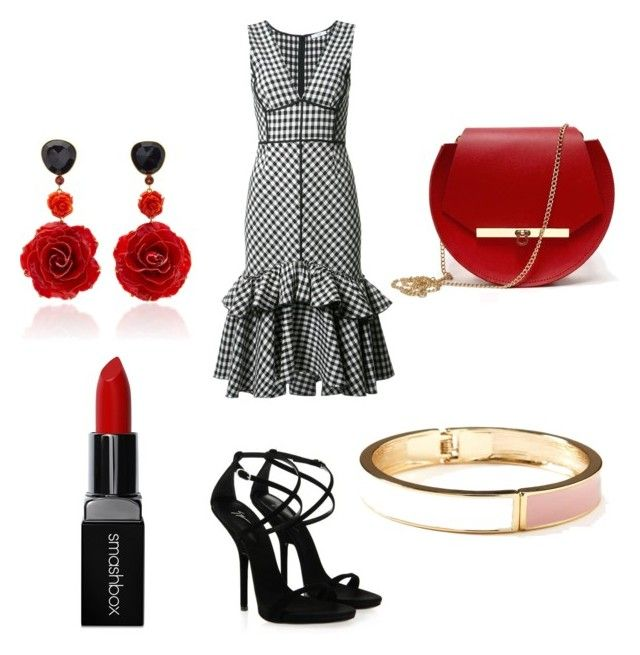 """""""First date❤️"""" by lestariani on Polyvore featuring Tome, Giuseppe Zanotti, Smashbox, Bahina, Old Navy and Angela Valentine Handbags"""