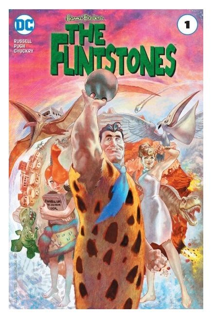 Cover for The Flintstones #1. Illustrated by Steve Pugh. Photo: DC Comics.