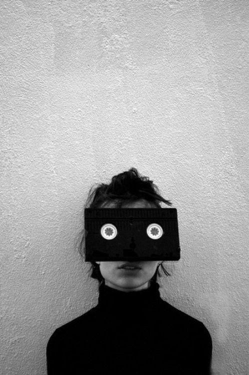 VHS | black white | eyes | quirky | portrait