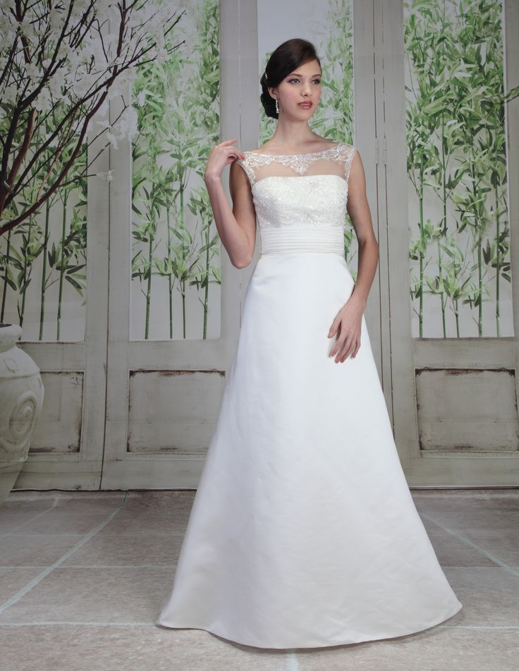 Elegant and Simple A Line Wedding Dress for a fairytale wedding from Finesse Bridal Wear in Listowel, Co Kerry #ClassicWedding