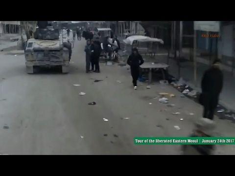 Guerra contra o ISIS no Iraque - Tour pelo leste de Mosul libertado - 24...