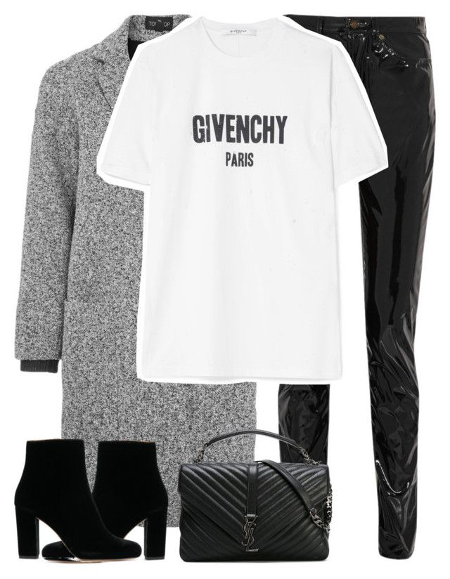 """Untitled #3277"" by elenaday ❤ liked on Polyvore featuring Yves Saint Laurent, Topshop and Givenchy"