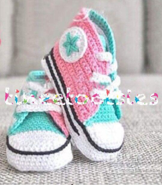 99b452be3a51 Baby Converse crochet