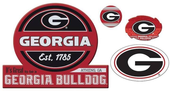 NCAA Georgia Bulldogs Game Day 4-Piece Magnet Set