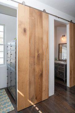 barn doors for coat closet, powder room, pantry & office