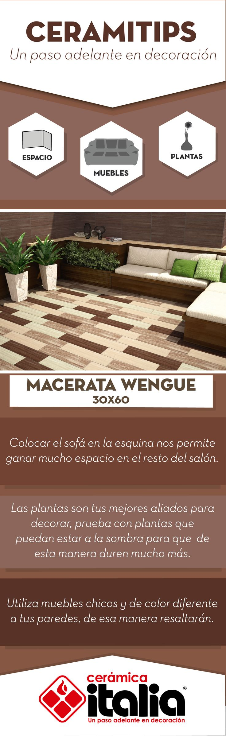 Utiliza muebles chicos y de color diferente a tus paredes, de esa manera resaltarán en tu ambiente.  #Exterirores #Outdoor #Cojines #Cushions  #Planta #Plan #Madera #madera #Wood
