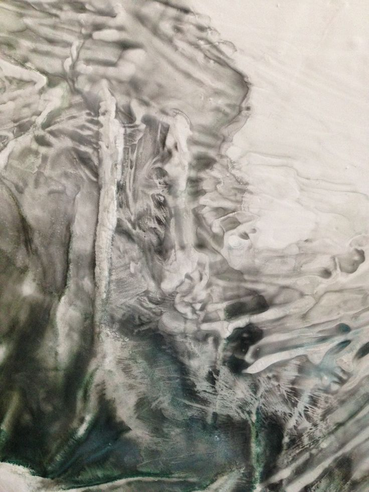 """Detail of """"TERRA INCOGNITA"""", 1x1M, Acryl with Ink, Paper and Plaster on Canvas, 2015"""