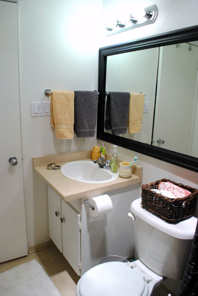 We Love Easy Remodeling Ideas And Mentioned Installing A Frame Around That Boring Bathroom Mirror To