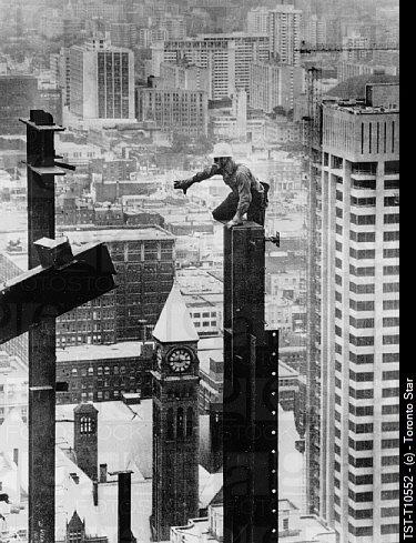 Construction of the TD Centre, 1968. NNA-award winning photo by Boris Spremo.