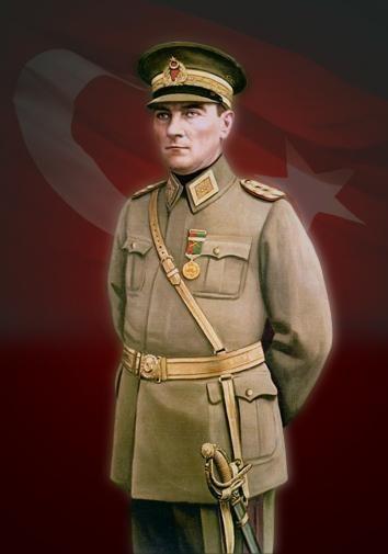 Mustafa Kemal Atatürk in Turkish Army generals' dress ...