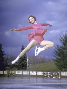 An Illustrated History of Figure Skating Clothes: 1956 Olympic Figure Skating Champion Tenley Albright Skated With No Collar