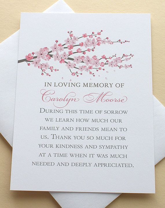 """Let me create a custom sympathy thank you card for you. The last thing on your mind when grieving is remembering to send out a thank you note to those who are there for you during that difficult time.   MATCHING BOOKMARK: https://www.etsy.com/listing/157911493/4-different-celebrate-of-life-bookmarks   • HOW TO CUSTOMIZE YOUR CARD: After you click on ''Add to Cart"""" you will see a box on the bottom left side that says ''Add an optional note to seller'', please type in y..."""