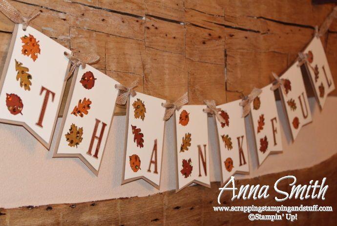October 2016 Paper Pumpkin Season of Gratitude Alternative Project - Fall Thanksgiving Banner #thankful