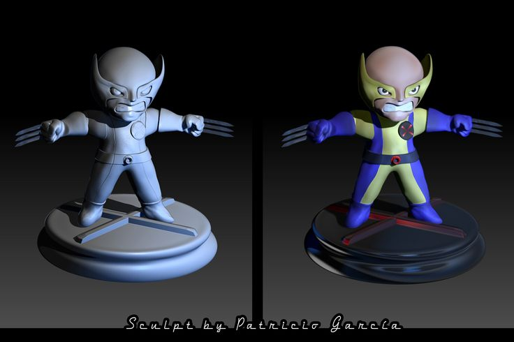 baby wolverine zbrush sculpt
