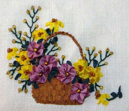 111 Best Ribbon Embroidery Images On Pinterest Silk Ribbon