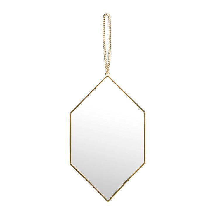 Midica Art Déco   Miroir suspendu géométrique