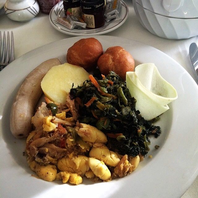 Good morning...what's for breakfast? Photo via Instagram.com/aj_parry  Find Jamaican recipes at http://www.jamaicans.com/cooking  ‪#‎jamaicanbreakfast‬ ‪#‎recipes‬ ‪#‎food‬ ‪#‎cooking‬ ‪#‎ackeeandsaltfish‬ ‪#‎greenbanana‬ ‪#‎yellowyam‬ ‪#‎callaloo‬ ‪#‎johnnycakes‬ ‪#‎frieddumplings‬