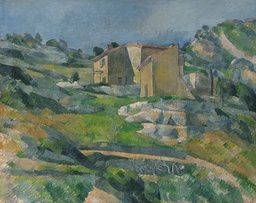 Paul Cézanne - Houses in Provence: The Riaux Valley near L'Estaque - c. 1883 - Painting