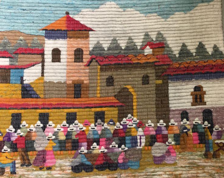 Vintage Peruvian Genre Textile Wall Hanging 75 Patterns