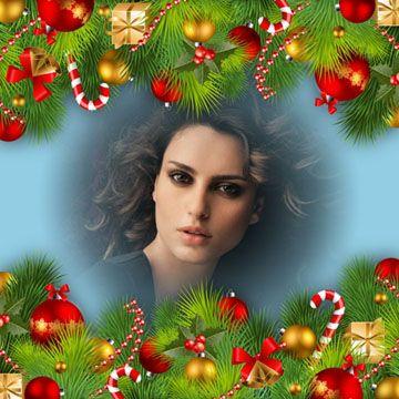 tarjetas navideños 2016   Montajes de fotos con adornos navideños.