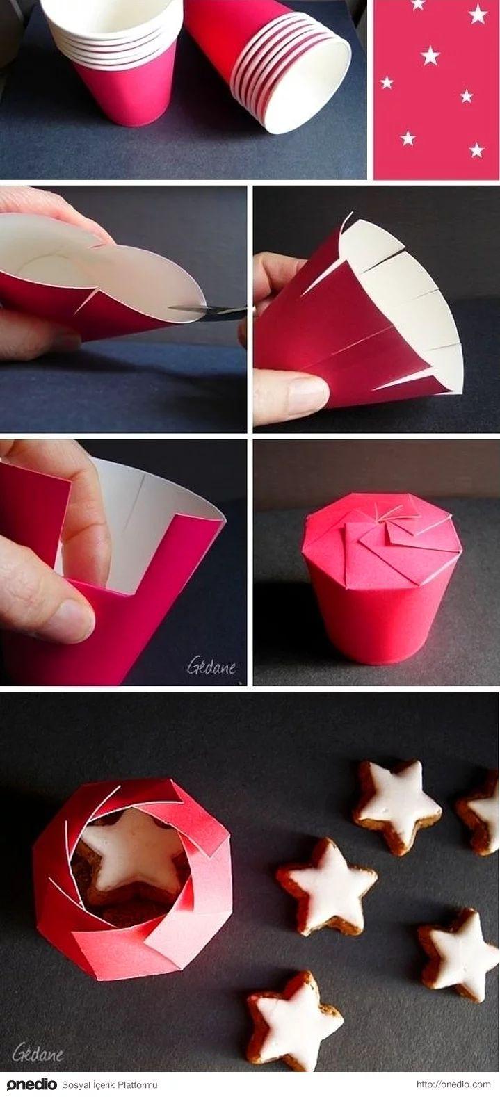 Bir kağıt bardağın hediye paketi olabileceğine kim inanır?