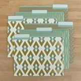 Gold Geometry File Folders #office #organization