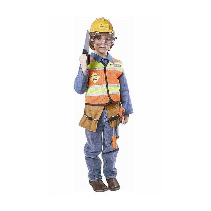 Dress Up America Construction Worker Childrens Costume. Huge Saving