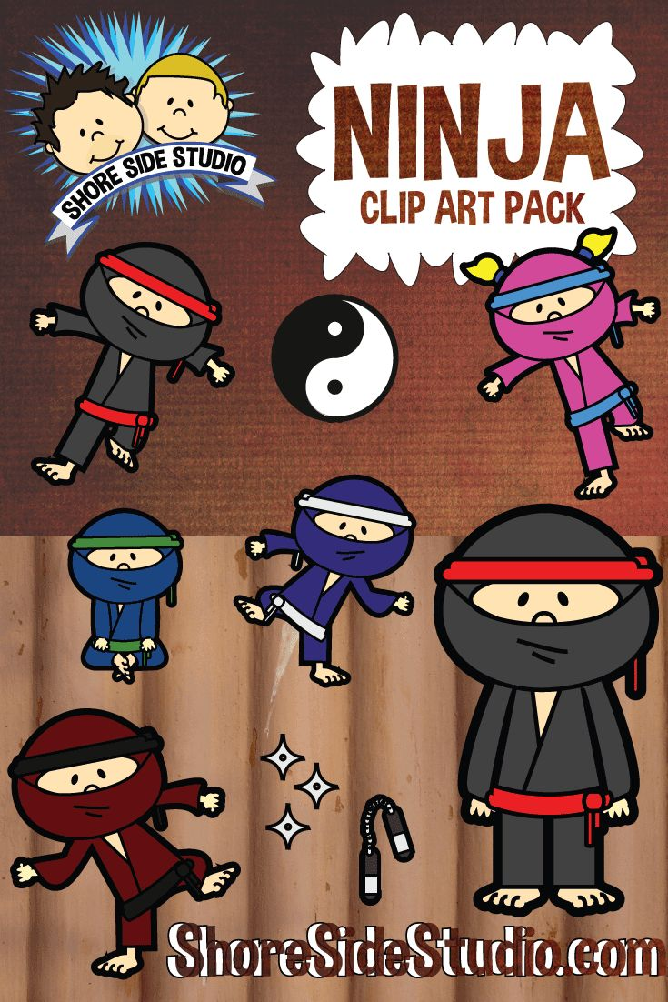 Shore Side Studio is proud to present our latest clip art pack. Ninja Kids. For more information or to purchase our Ninja Kids clip art pack