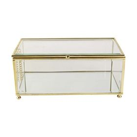 Jewellery Box - Brass and Clear