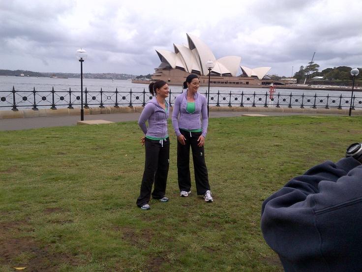 Jana and Astrid at The Rocks for press shoot!