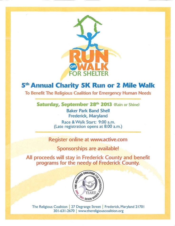 Run or Walk for Shelter - 5th Annual Charity 5K Run or 2 Mile Walk - active resume words