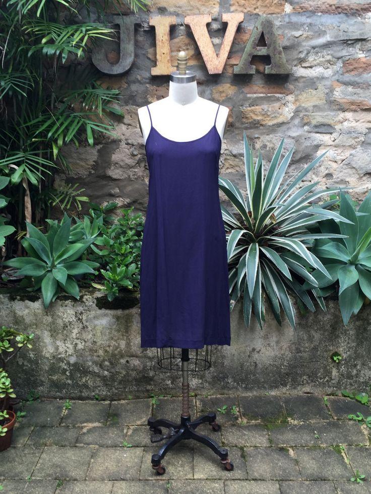 Jiva Knee Length Purple- Crepe Silk Slip – Jiva Clothing