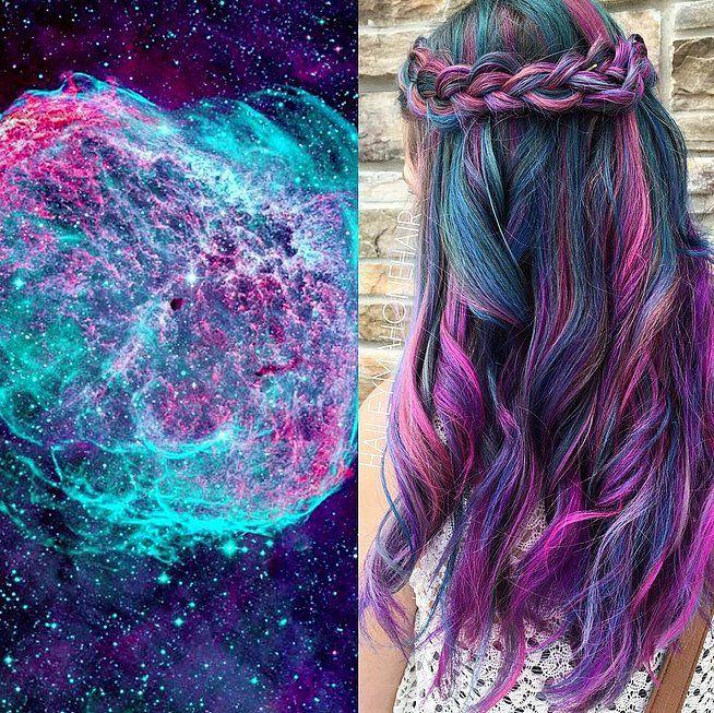 Galaxy Hair Color Ideas | POPSUGAR Beauty
