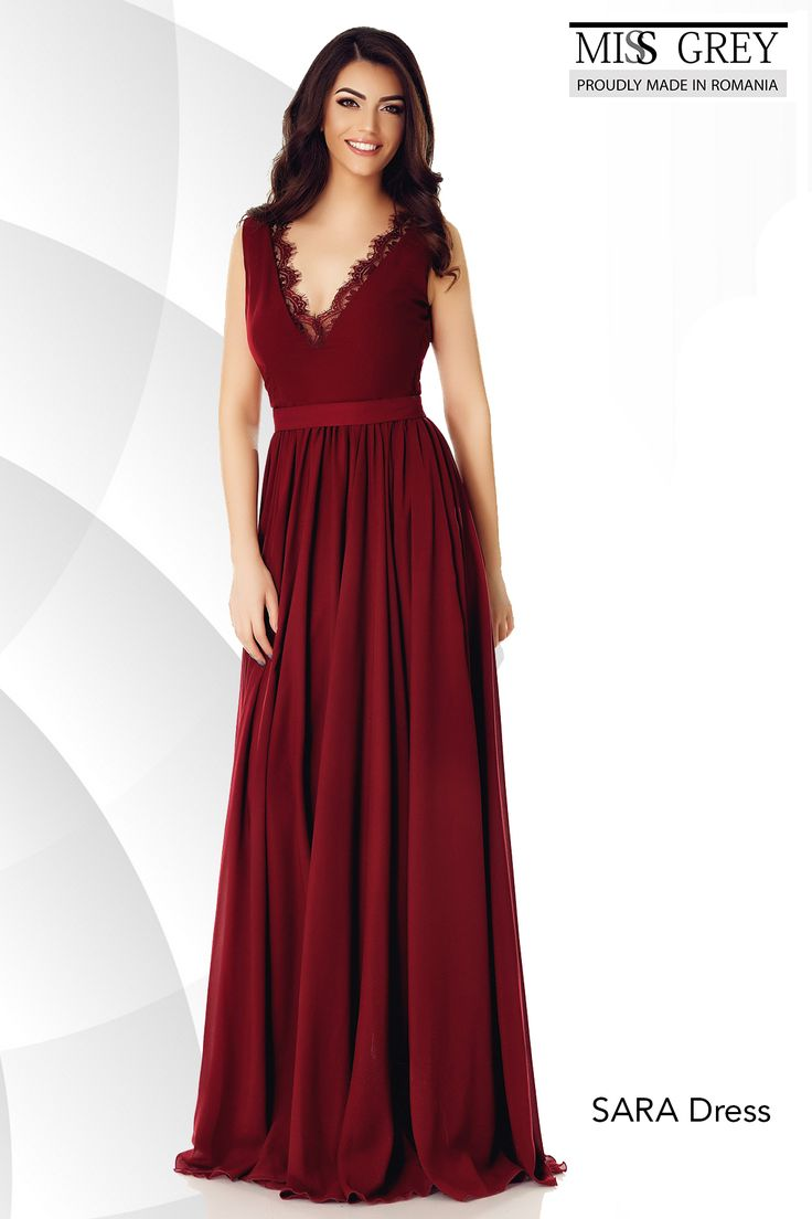 Catch everyone's attention in this amazing Sara Dress! http://bit.ly/Bordo-Dress