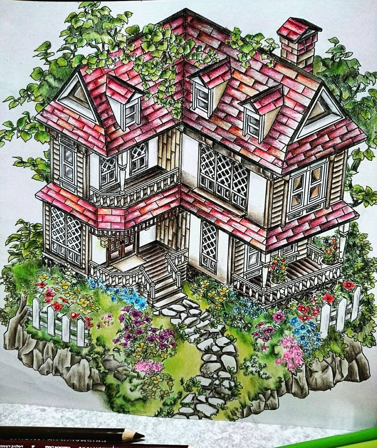 家仕上がり* * * ゜.:。+゜.:♡゜.:。+゜.:。♡゜.:。+゜.:。♡゜.:。+゜. #coloringbook  #adultcoloringbook  #에브리타운컬러링북 #watercolor  #oilpencil  #prismacolor  #mygarden #myhous #garden #house  #coloriage #大人の塗り絵 #大人のぬり絵  #家 #庭  #コロリアージュ  #3jsbライブ ヤバい #3jsb  神席頼む #3jsbライブチケ買ってくれた神さま方にマジ泣き ゜.:。+゜.:♡゜.:。+゜.:。♡゜.:。+゜.:。♡゜.:。+゜.