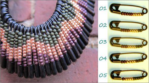 DIY Collar imperdibles con abalorios